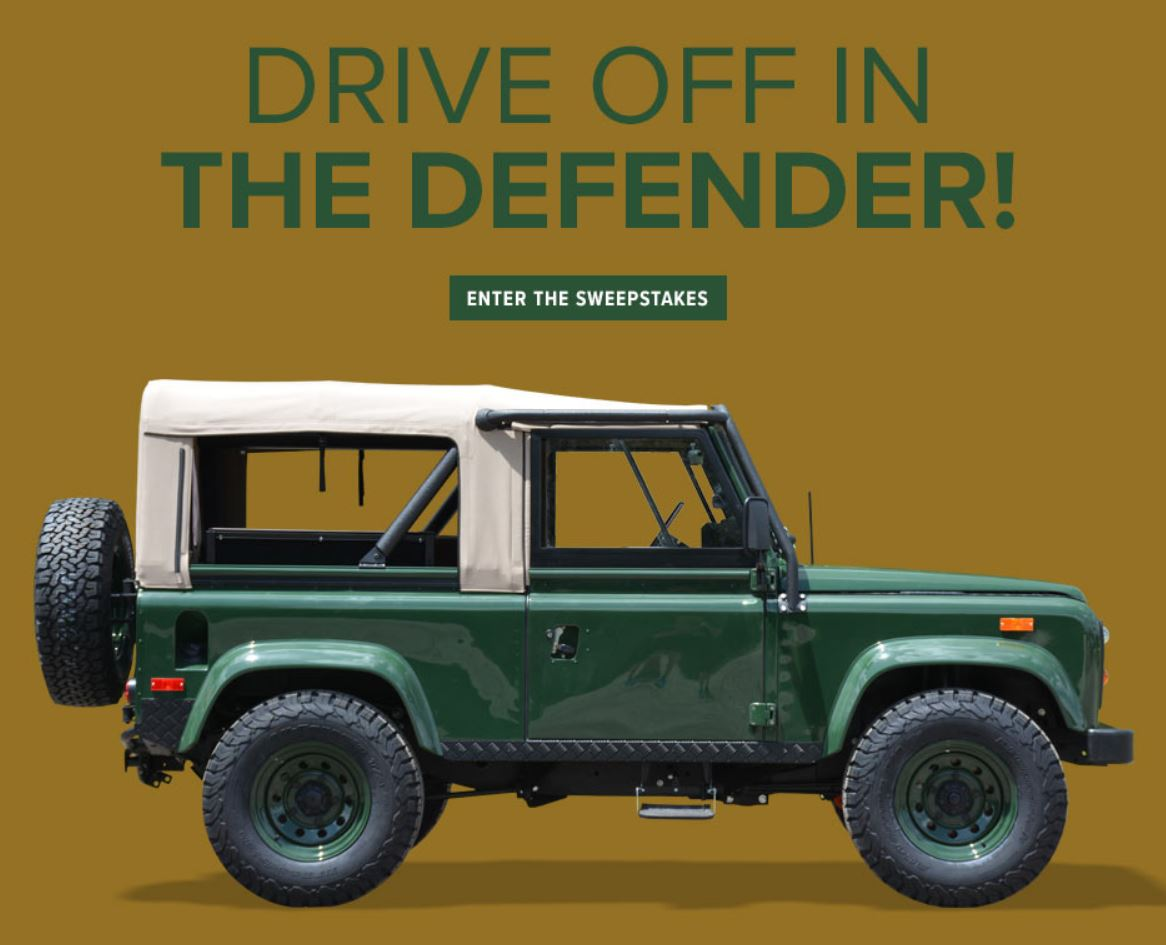 Drive off in the Defender!
